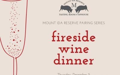 Fireside Wine Dinner
