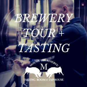 Brewery Tour- Mount Ida Reserve